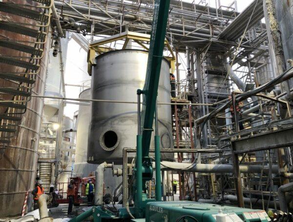 Fabricación y montaje de depósito de homogeneización