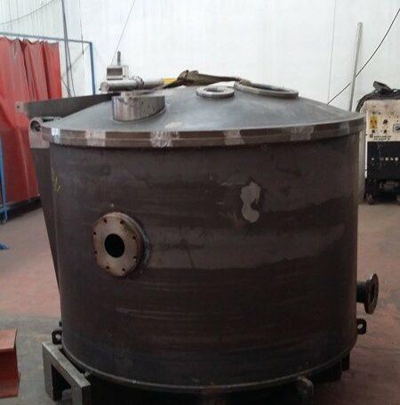 Cesta de acero carbono para centrifuga de derivado…