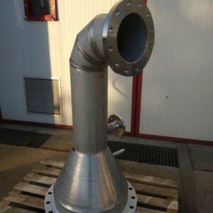 Conducto en acero inoxidable AISI-316L.