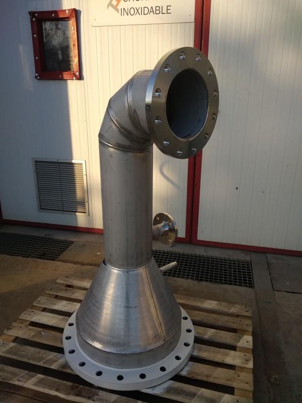Conduit en acier inoxydable AISI-316L.