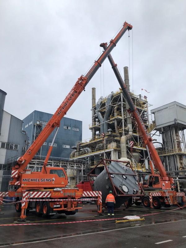 Fabricación y montaje de depósito en titanio