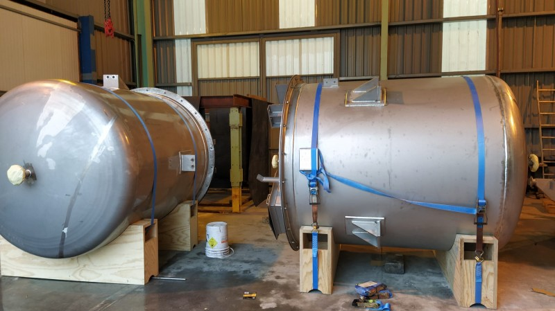 Manufacture of two units in AISI-316 stainless steel