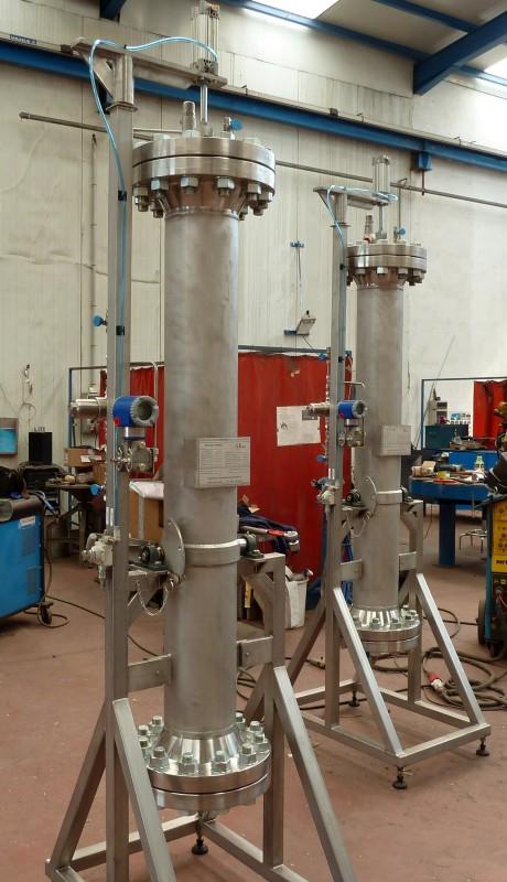 Filtres haute pression pour absorption en inox