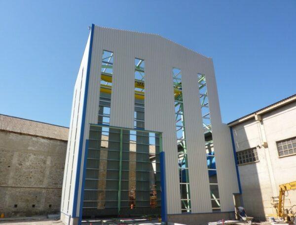 Entrepôt pour la fabrication de silos