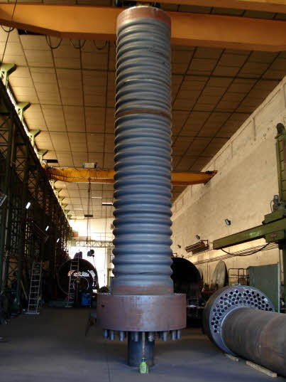 Corrugated housing for steam bolier 15.000 Kg/H