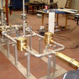 Instalación para gases 200 Kg/cm2