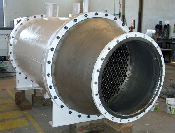 Échangeur bimétallique: titane+acier carbone