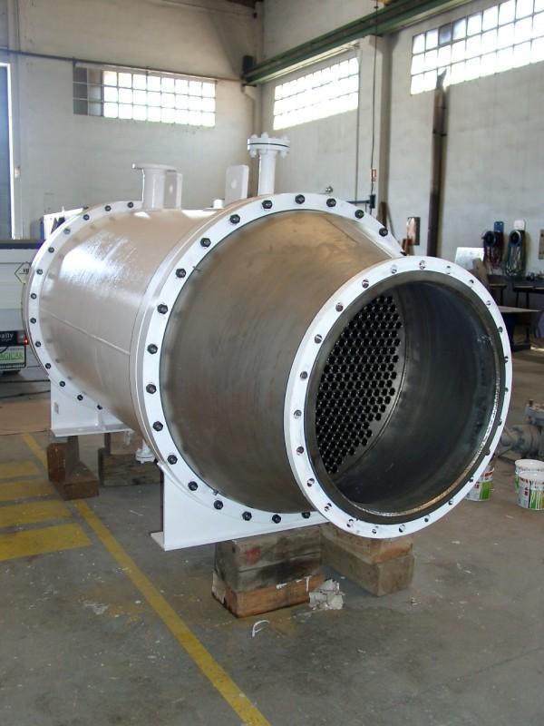 Bimetal exchanger: titanium+carbon steel