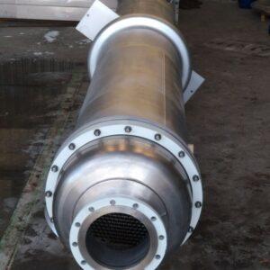 Intercambiador de placa tubular bimetálica