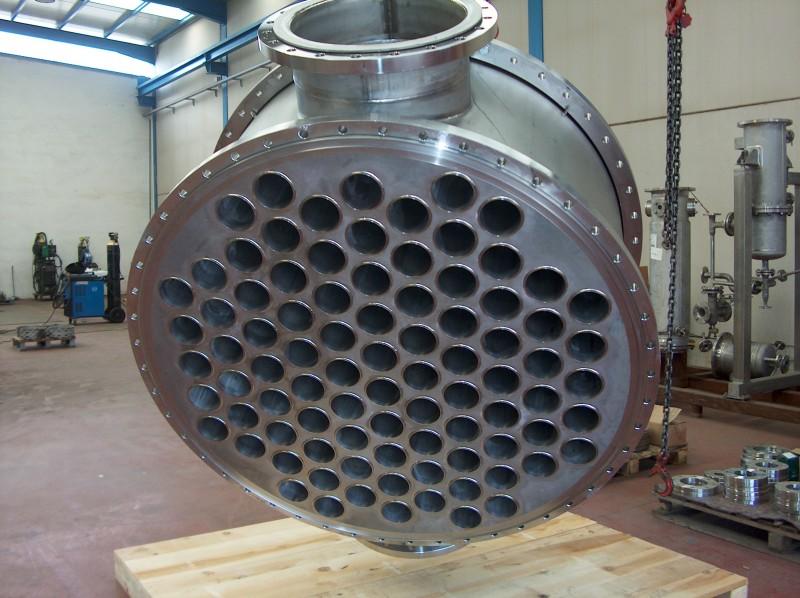 Intercambiador en titanio