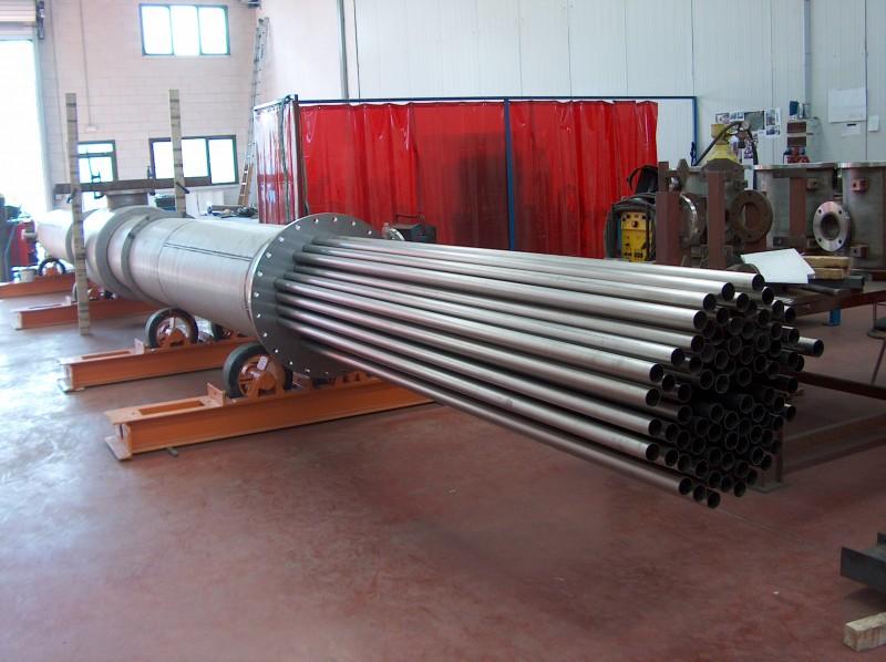 Intercambiador tubular a 6 metros