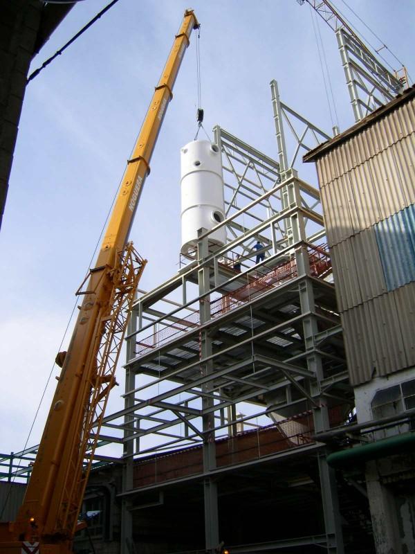 Montaje depósito en planta de filtración