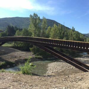 Pasarela sobre el río Gállego