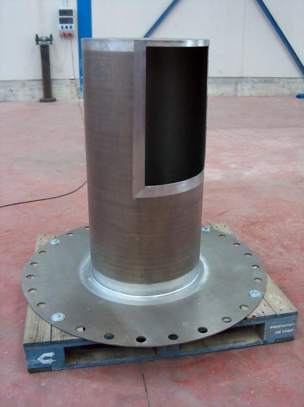 Zirconium chimney part