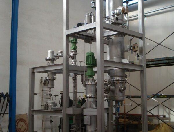 Ethanol evaporation pilot plant