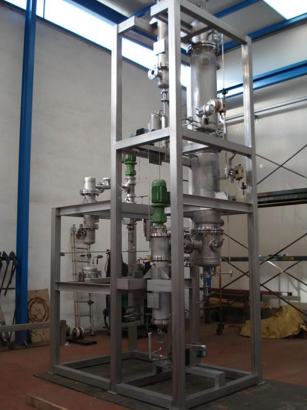 Planta piloto evaporación etanol