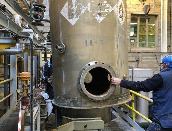 Reparación reactores de titanio