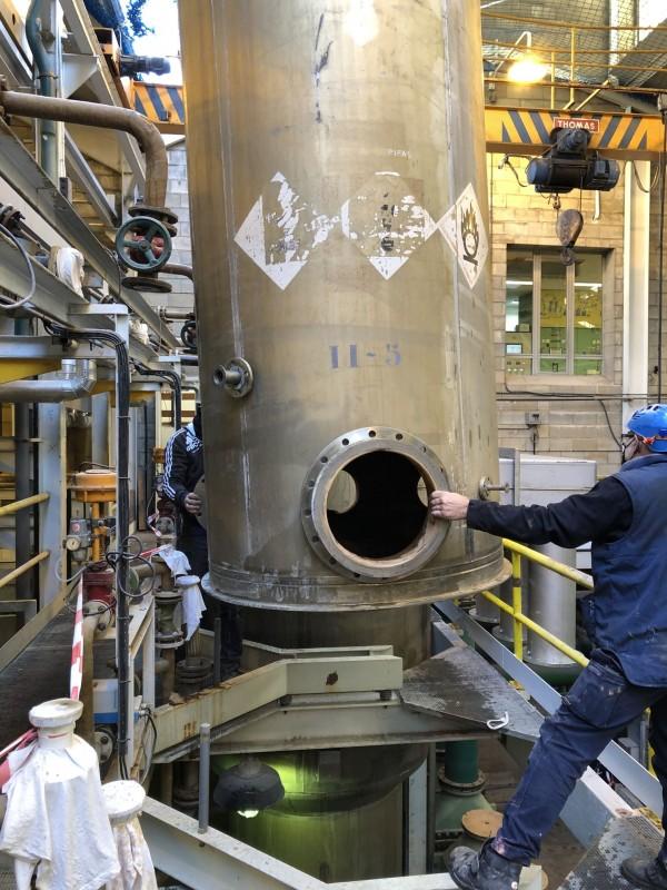 Réparation de réacteur en titane