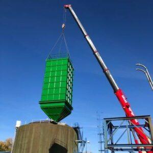 Fabrication et montage d'un silo pour boues de 80