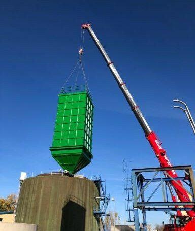 Fabricación y el montaje de un silo para fangos de 80