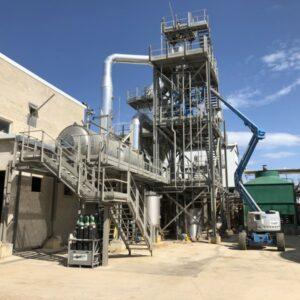 Construction d'une usine de cristallisation