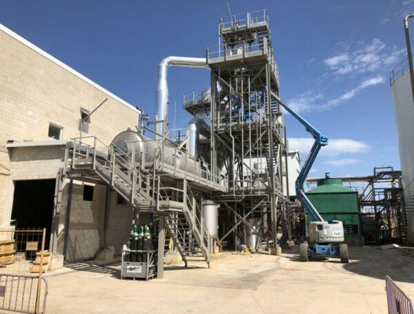 Construcción de una planta de cristalización