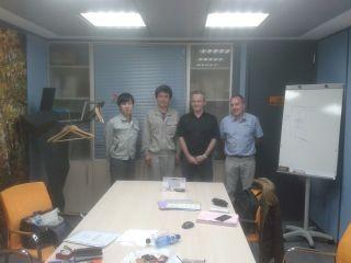 Visita de técnicos de Techniop y Sumitomo